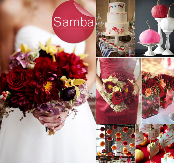 Samba-Dark-Red-Inspired-Fall-Wedding-Color-Ideas