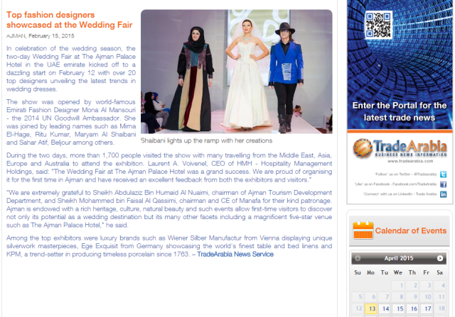 Beljour Couture Was Highlighted Among The Top Fashion Designers On Tarde Arbai Beljour